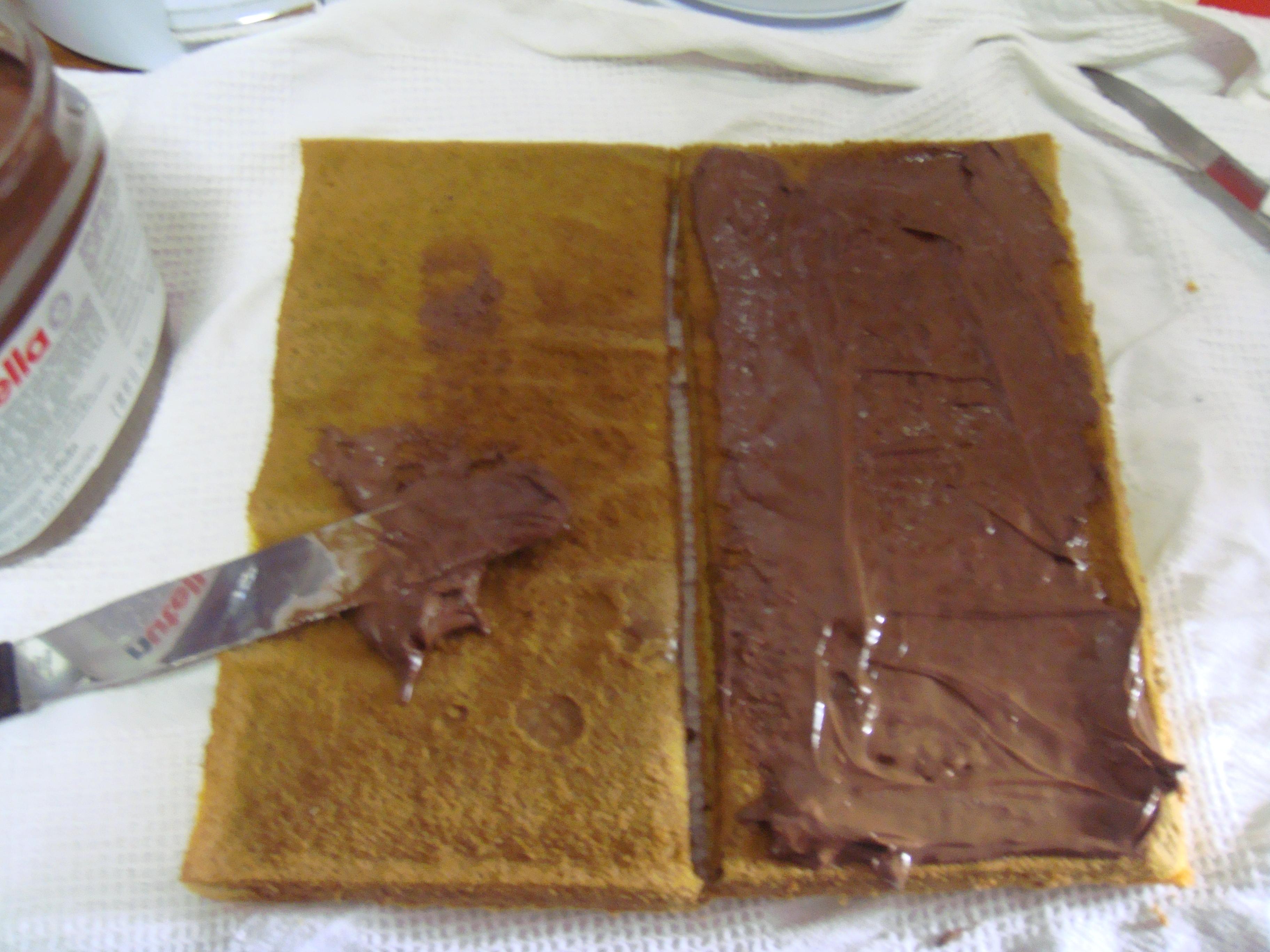 Kek Tapak Kuda Nutella Nutella Horse Shoe Cake
